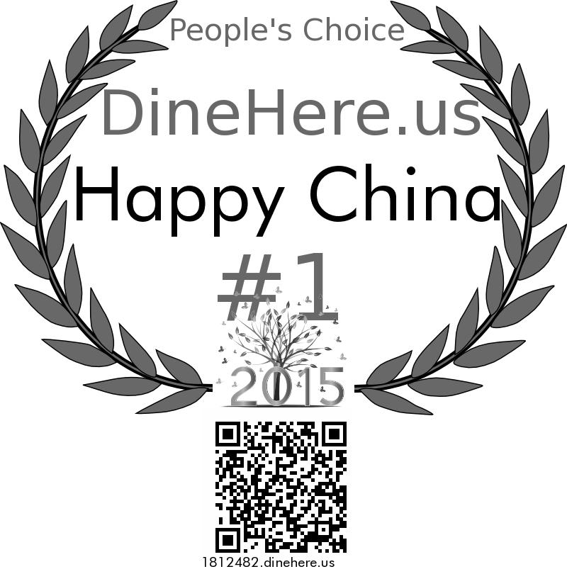 Happy China DineHere.us 2015 Award Winner
